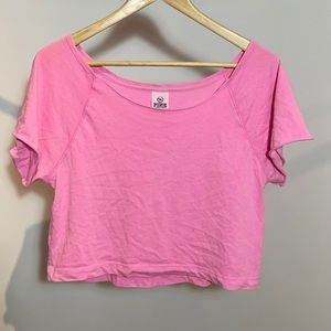 4/$20 🔥PINK Oversized Cropped Tee